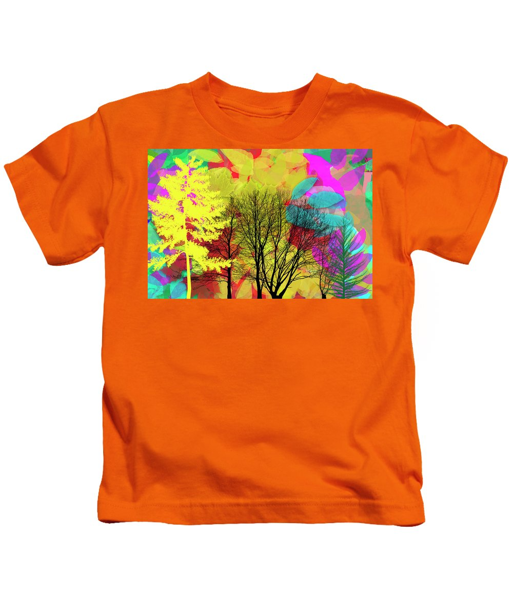 Autumn Kids T-Shirt featuring the digital art Autumn Leaves by Carlos Diaz