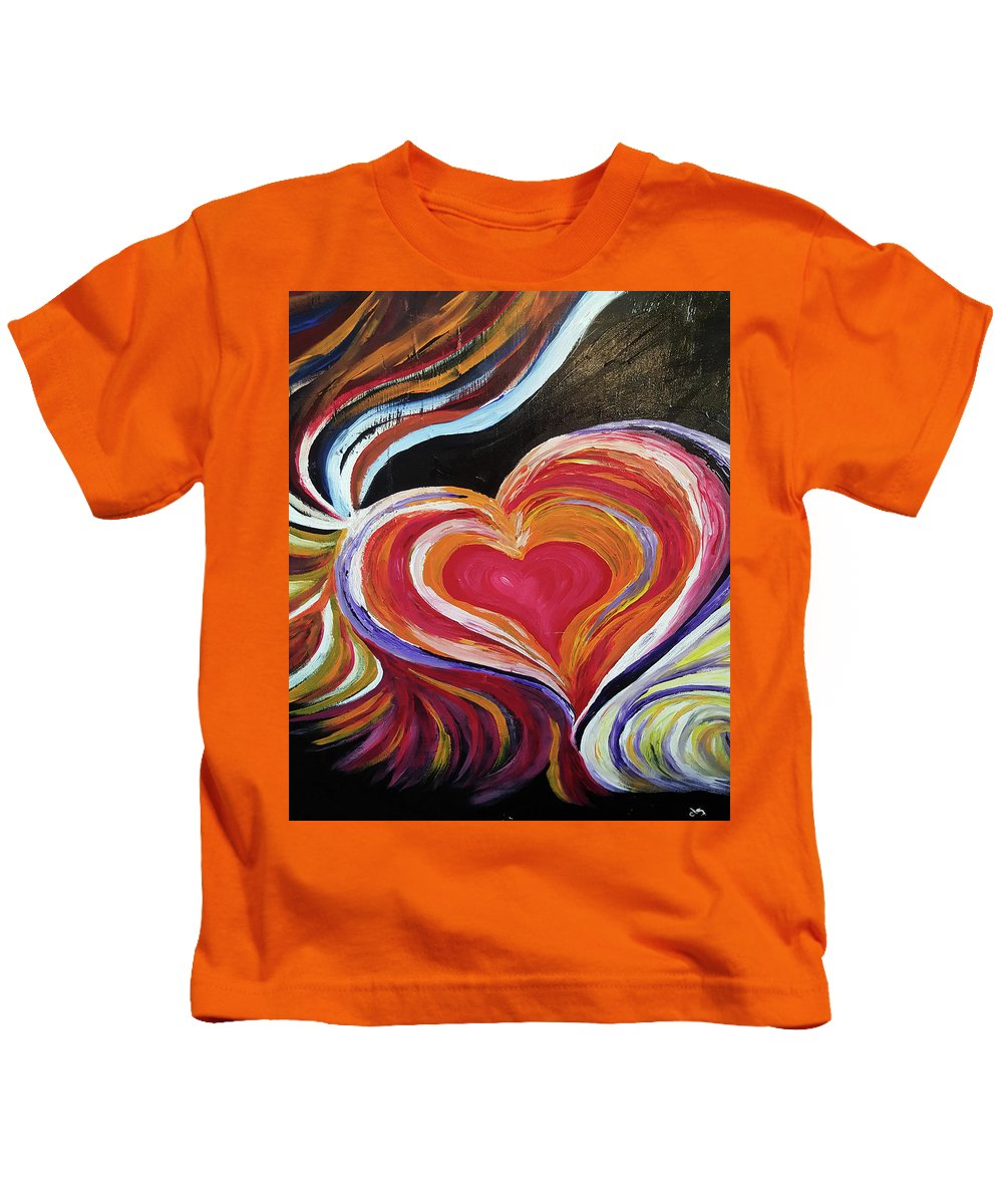 Black Love Is . . . Emp Kids T-Shirt featuring the painting Black Love Is . . . by Cheri Dawson
