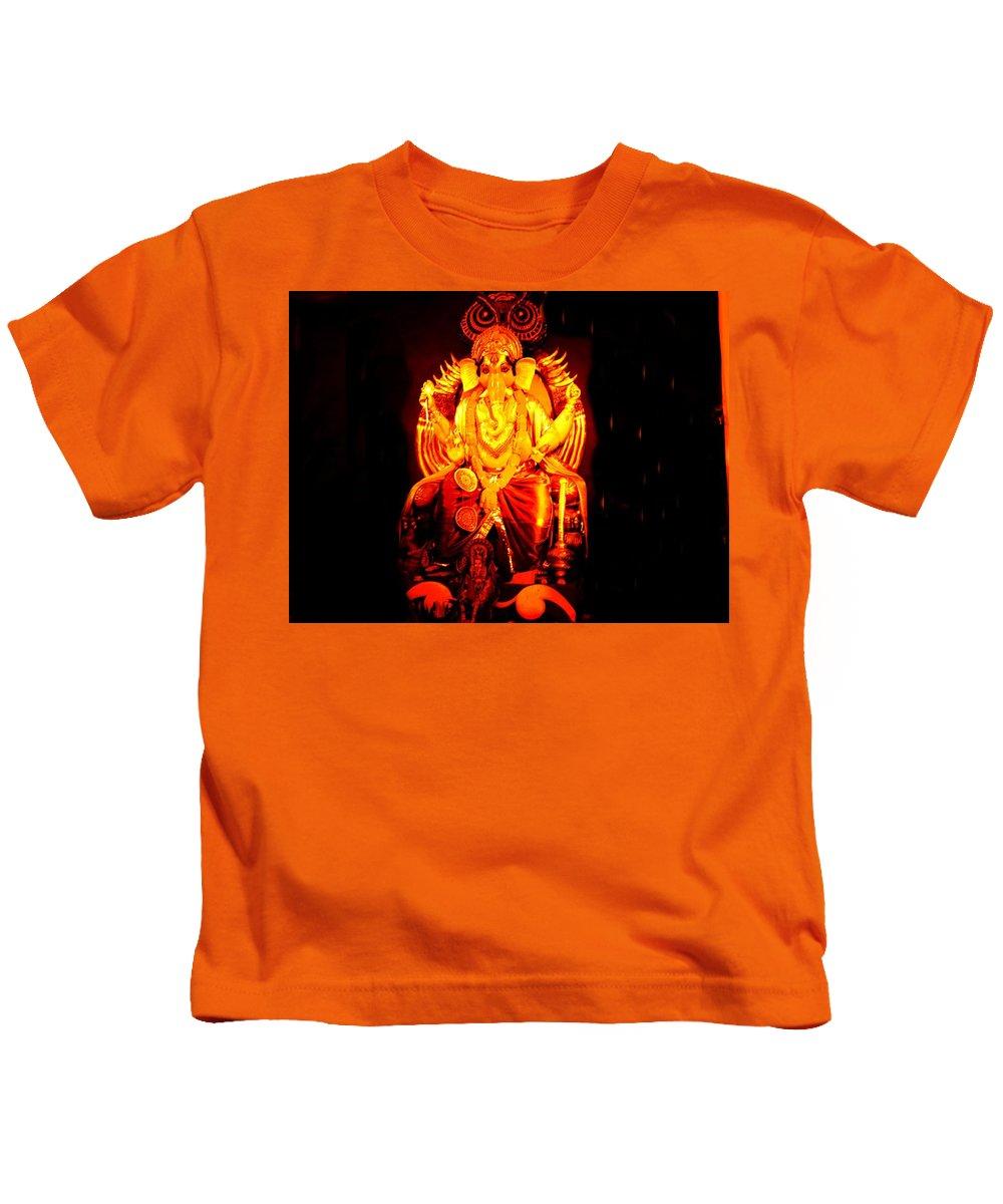 Ganesha Kids T-Shirt featuring the photograph Ganesha4 by Nilu Mishra