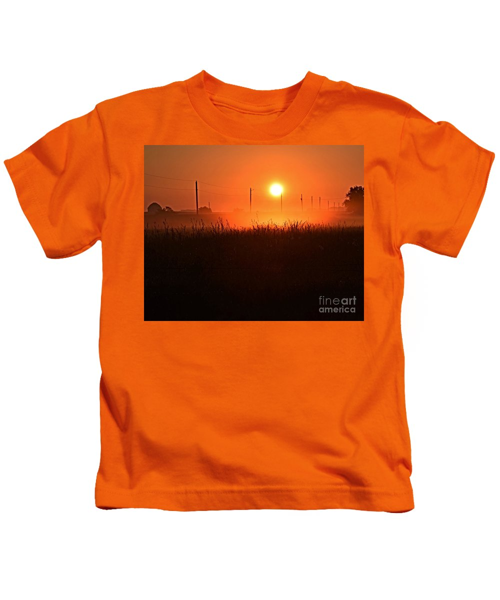 Morning Glory Kids T-Shirt featuring the photograph Morning Glory by Kathy M Krause