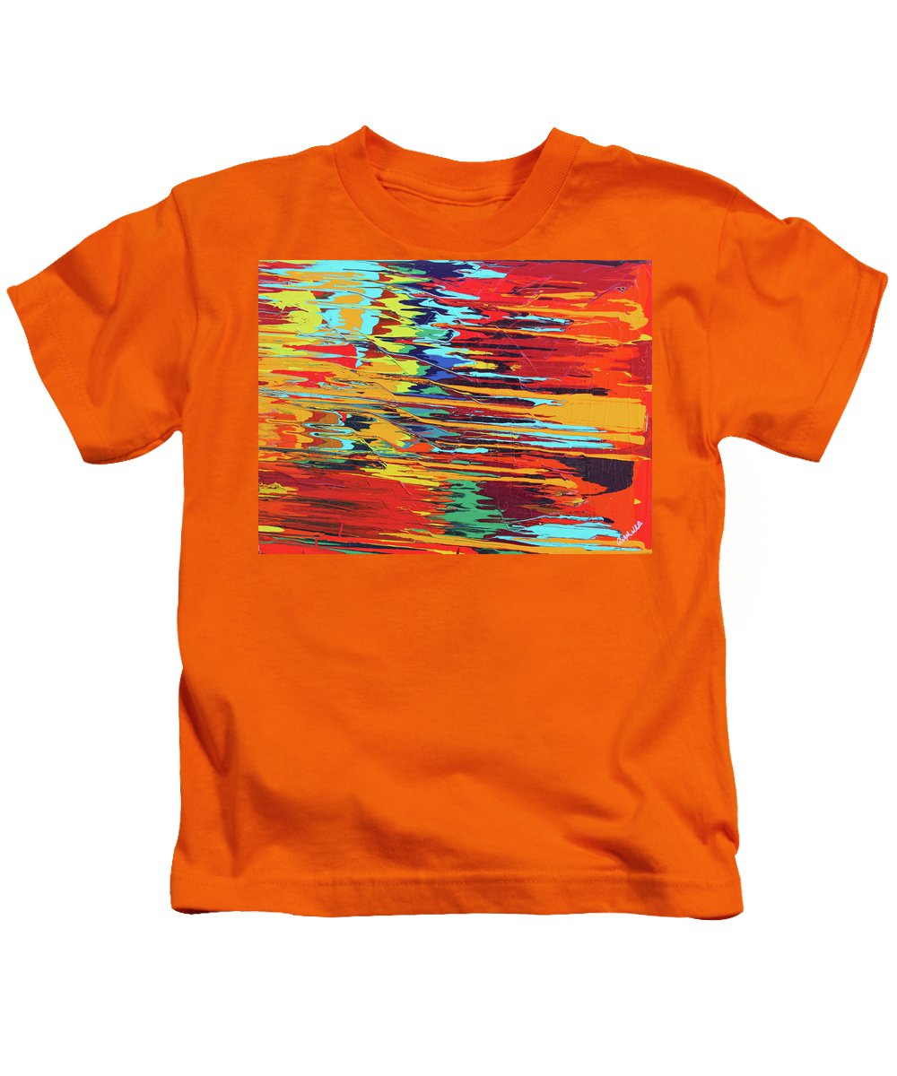 Fusionart Kids T-Shirt featuring the painting Zap by Ralph White