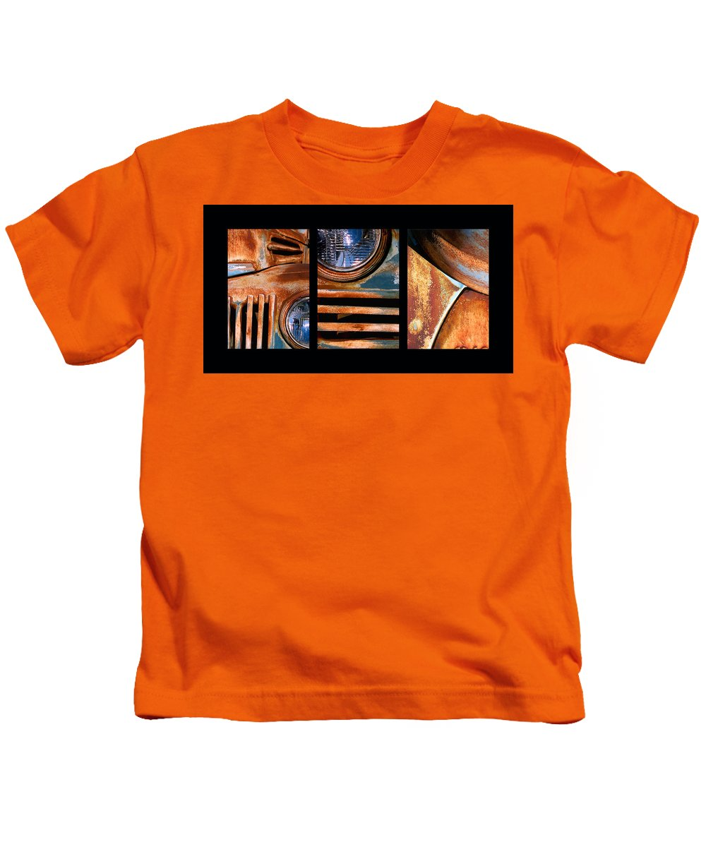Abstract Kids T-Shirt featuring the photograph Red Head On by Steve Karol