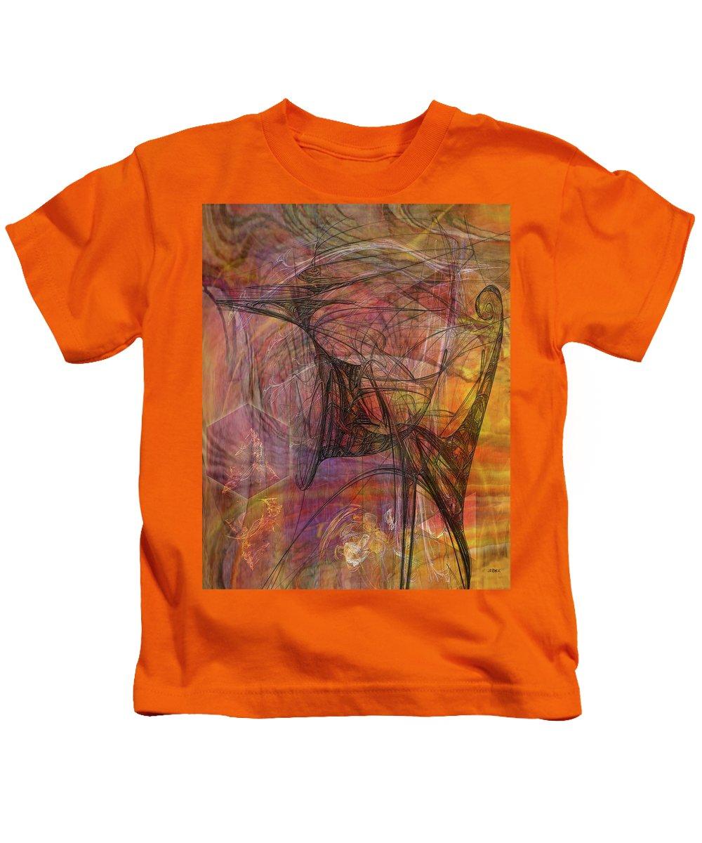 Shadow Dragon Kids T-Shirt featuring the digital art Shadow Dragon by John Robert Beck