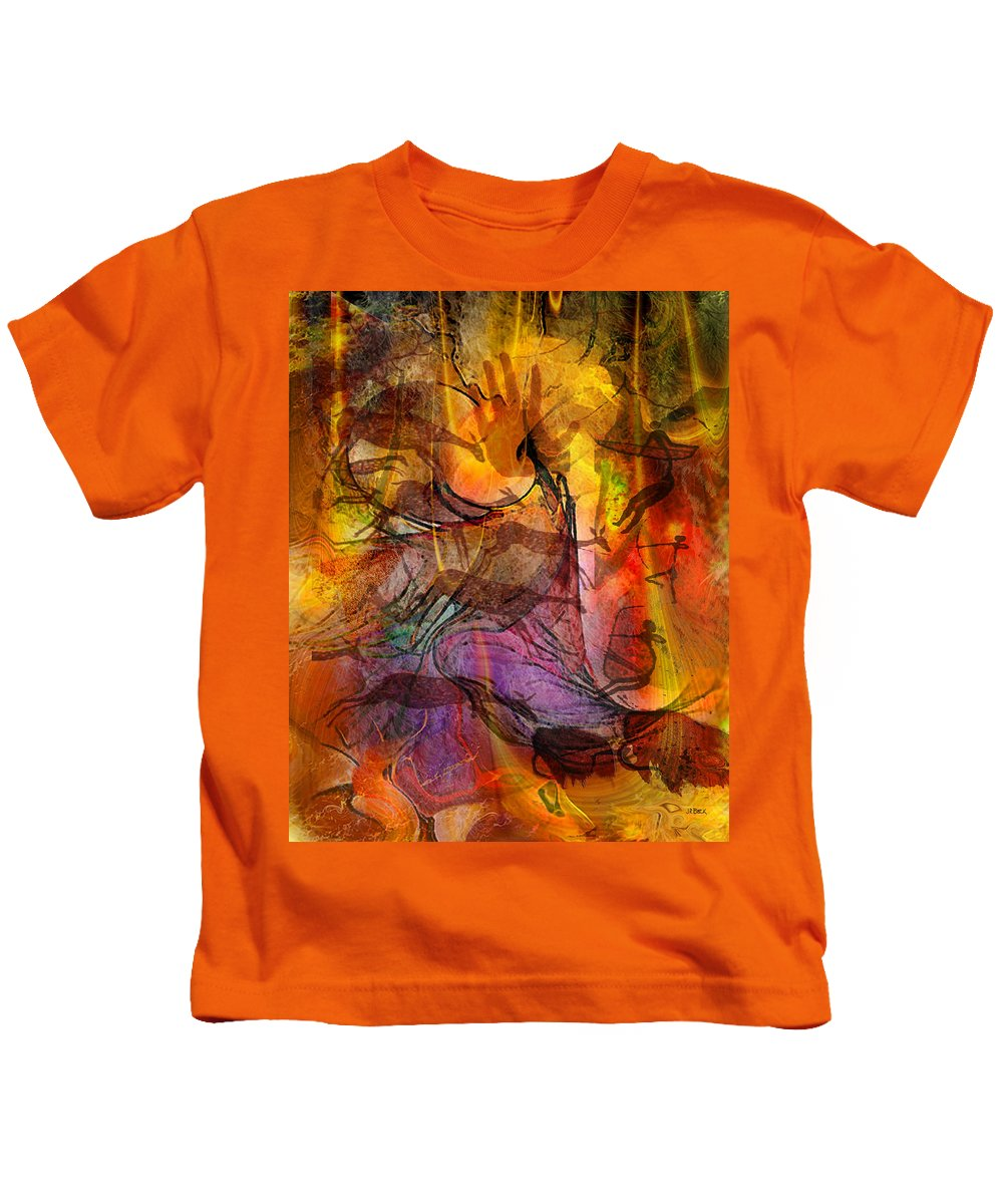Shadow Hunters Kids T-Shirt featuring the digital art Shadow Hunters by John Robert Beck