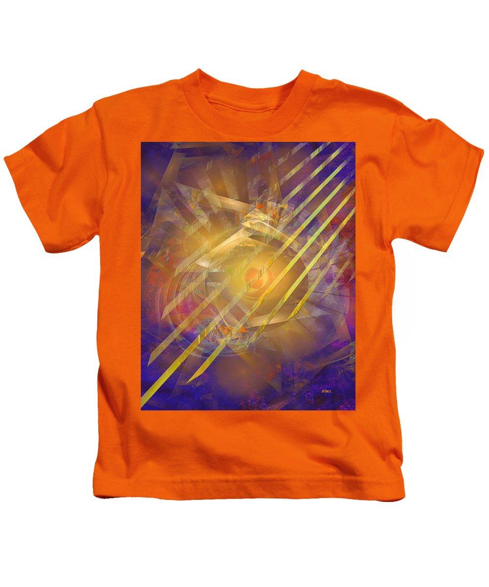 Venetian Gold Kids T-Shirt featuring the digital art Venetian Gold by John Robert Beck