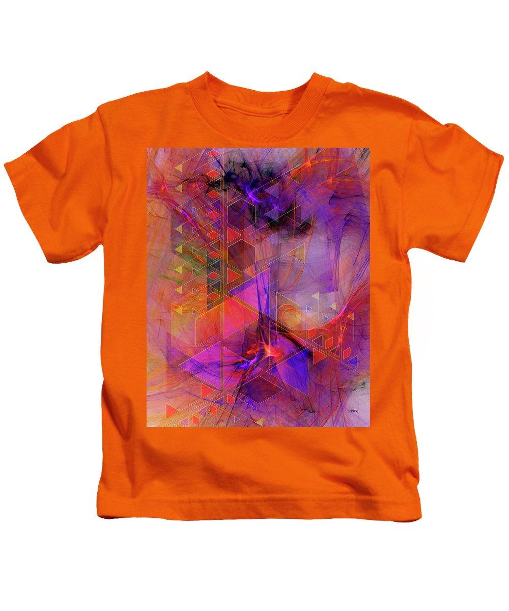 Vibrant Echoes Kids T-Shirt featuring the digital art Vibrant Echoes by John Robert Beck