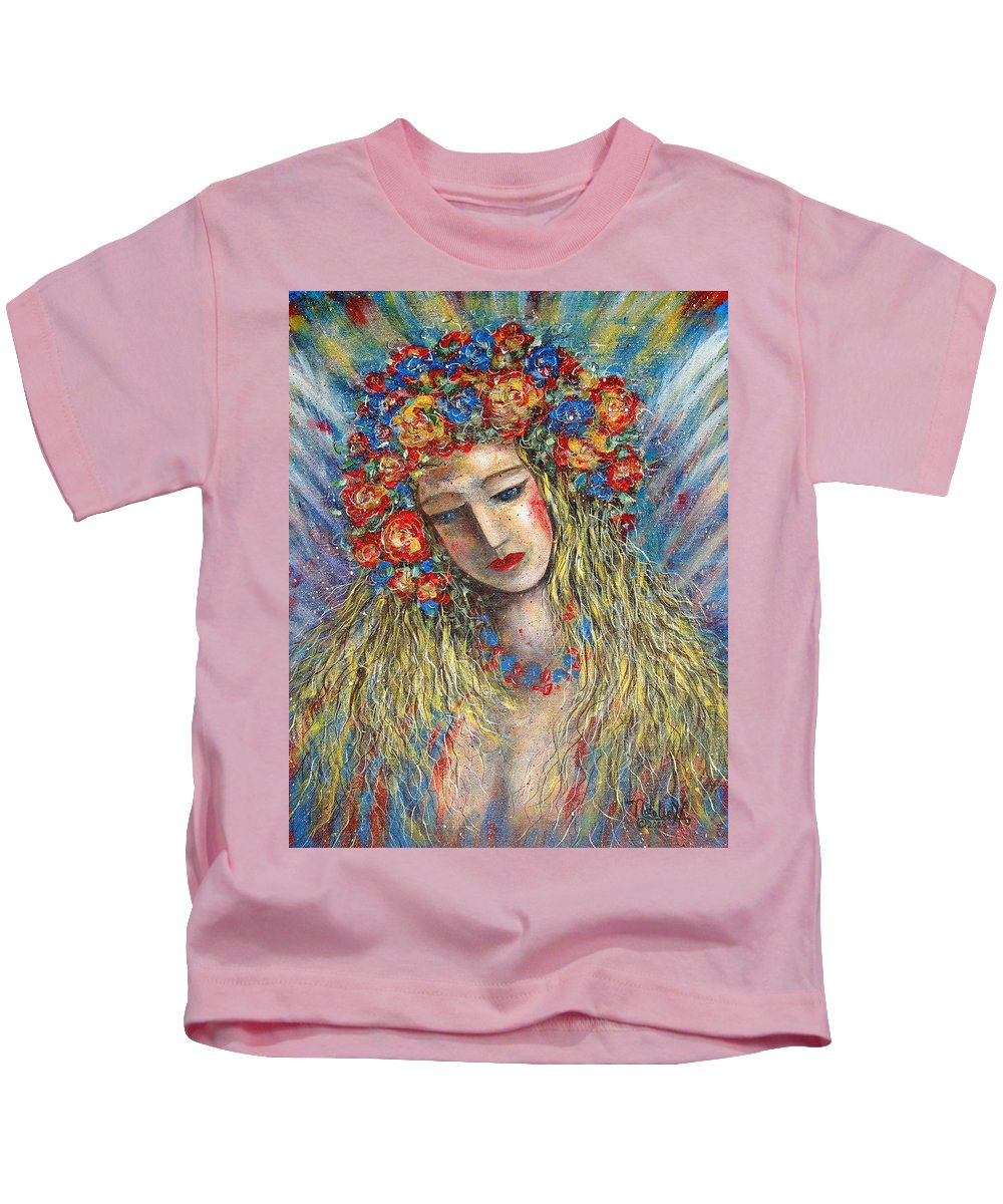 Painting Kids T-Shirt featuring the painting The Loving Angel by Natalie Holland