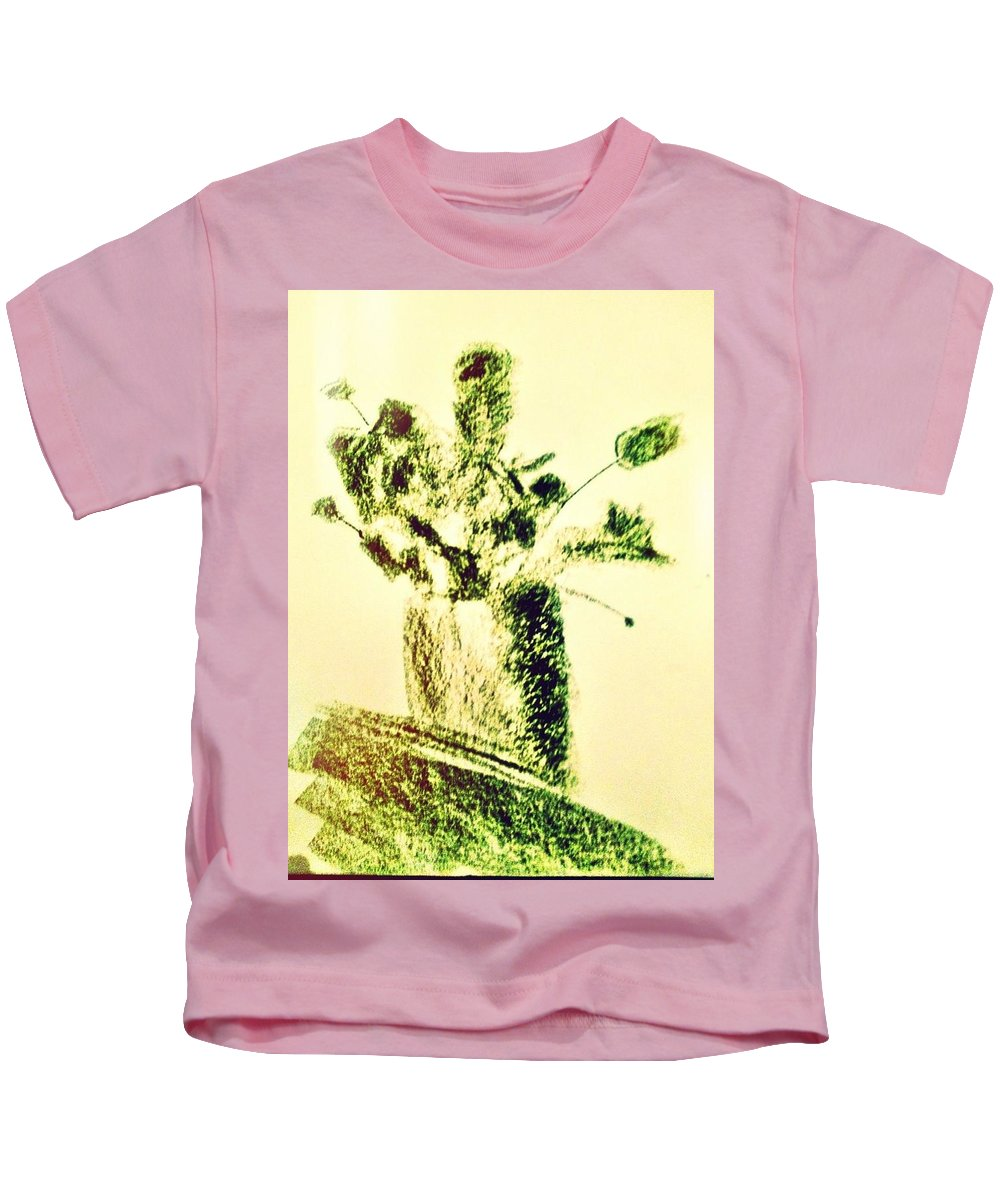 Flowers Kids T-Shirt featuring the photograph Art Therapy 179 by Michele Monk