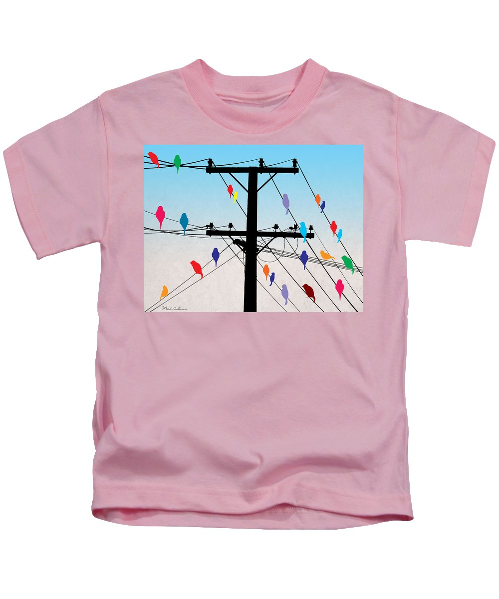 Funny Kids T-Shirt featuring the digital art Birds by Mark Ashkenazi