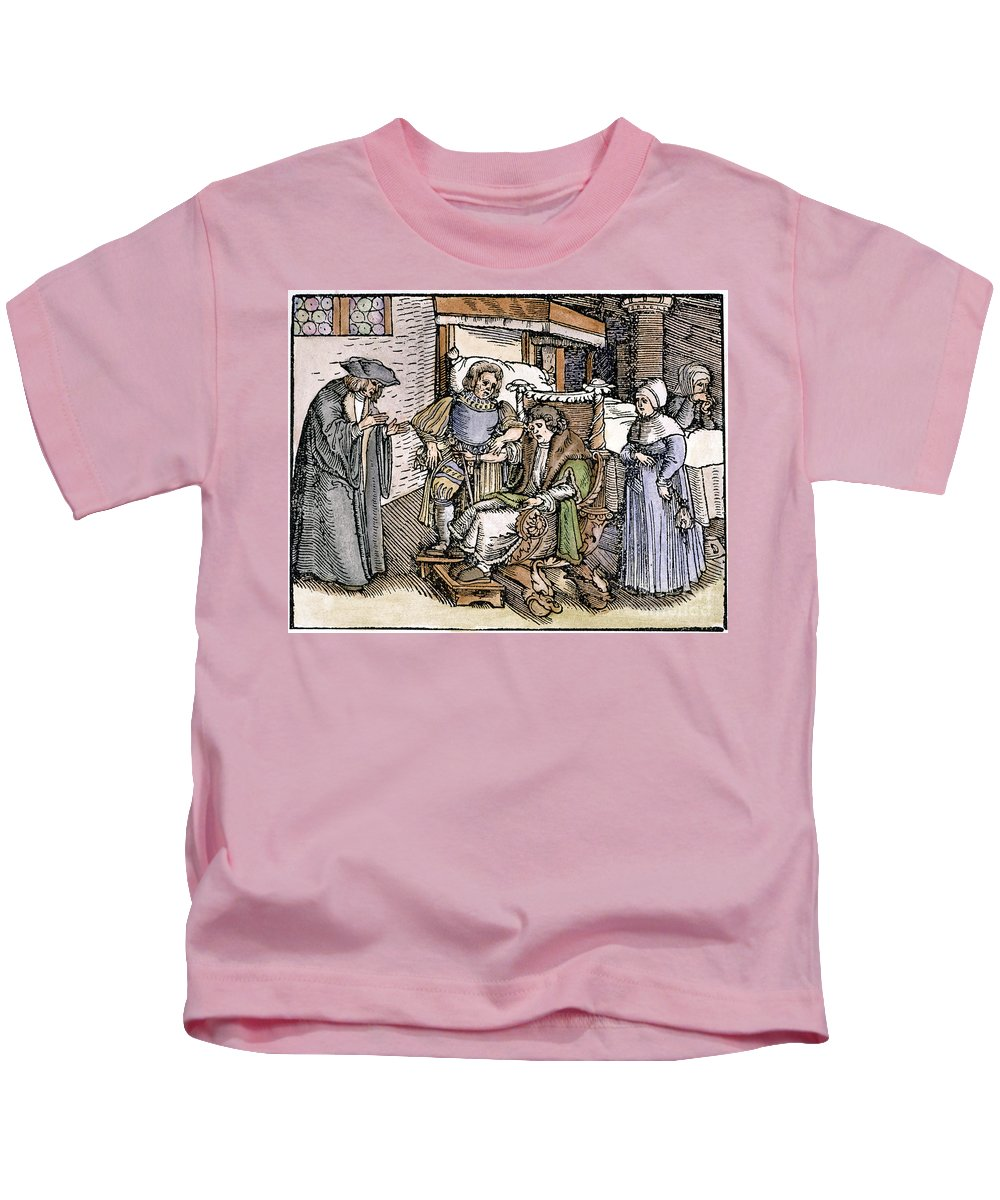 1540 Kids T-Shirt featuring the photograph Bloodletting, 1540 by Granger
