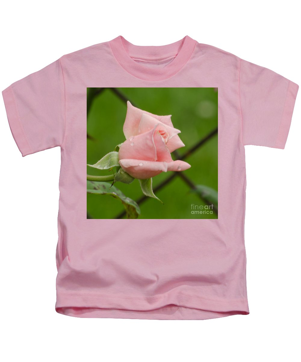 Rose Kids T-Shirt featuring the photograph Budding by Donna Brown