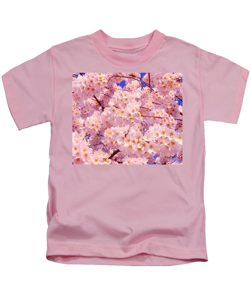 2012 Centennial Celebration Kids T-Shirt featuring the photograph Bursting With Blossoms by Jeff at JSJ Photography
