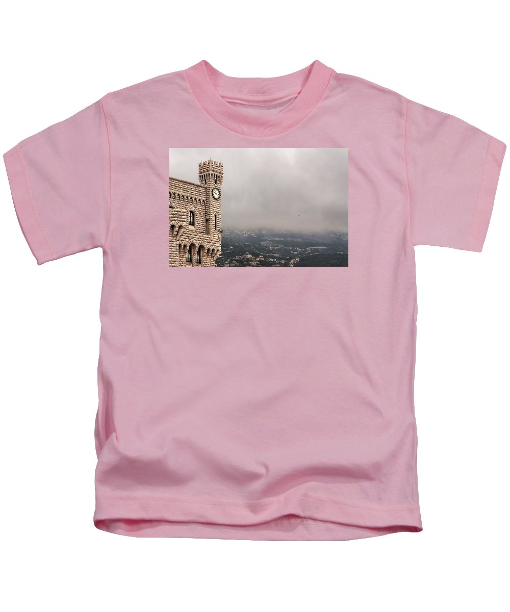 Architecture Kids T-Shirt featuring the photograph Clock Tower by Maria Coulson