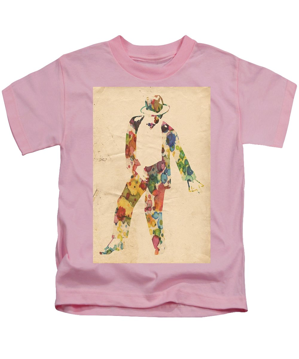 Michael Jackson Kids T-Shirt featuring the painting King Of Pop In Concert No 6 by Florian Rodarte