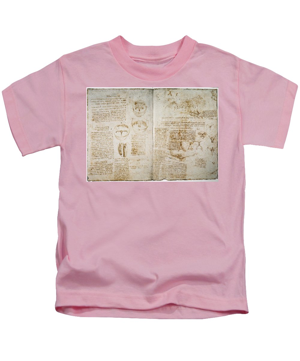 1512 Kids T-Shirt featuring the photograph Leonardo: Anatomy, C1512 by Granger