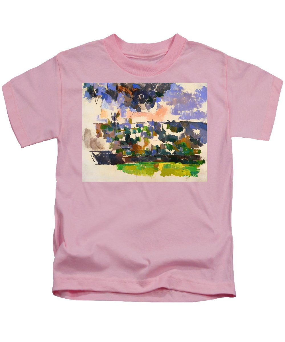 Painting Kids T-Shirt featuring the painting The Garden At Les Lauves by Mountain Dreams