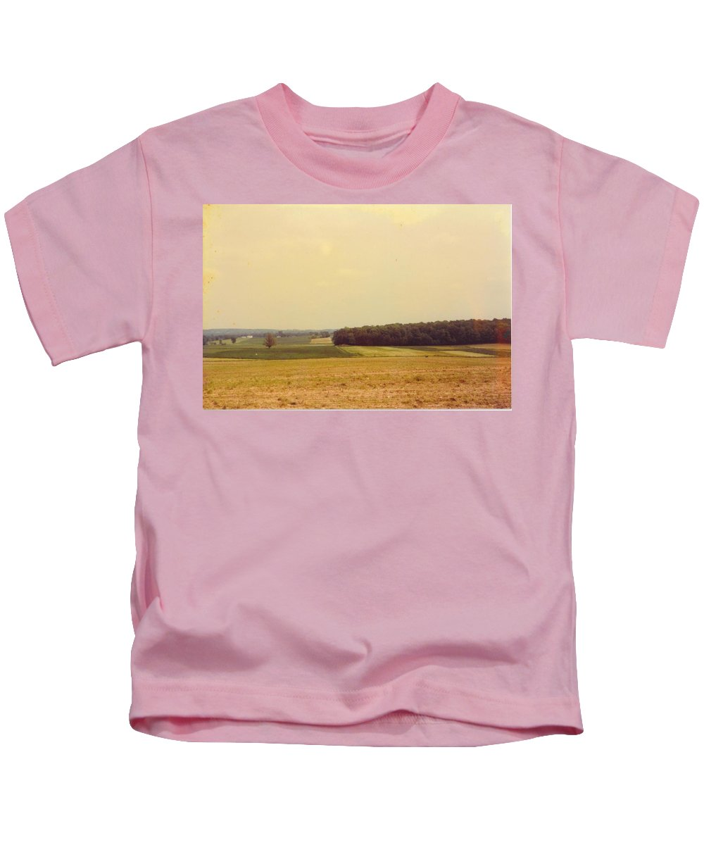 Fall Colors In Michigan Kids T-Shirt featuring the photograph Michigan Landscape by Robert Floyd