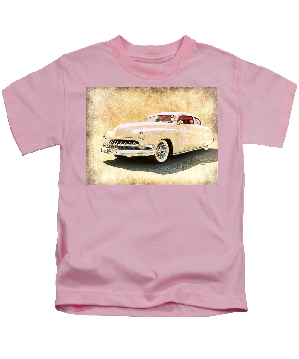 Rust Kids T-Shirt featuring the photograph 1950 Mercury Grunge by Steve McKinzie
