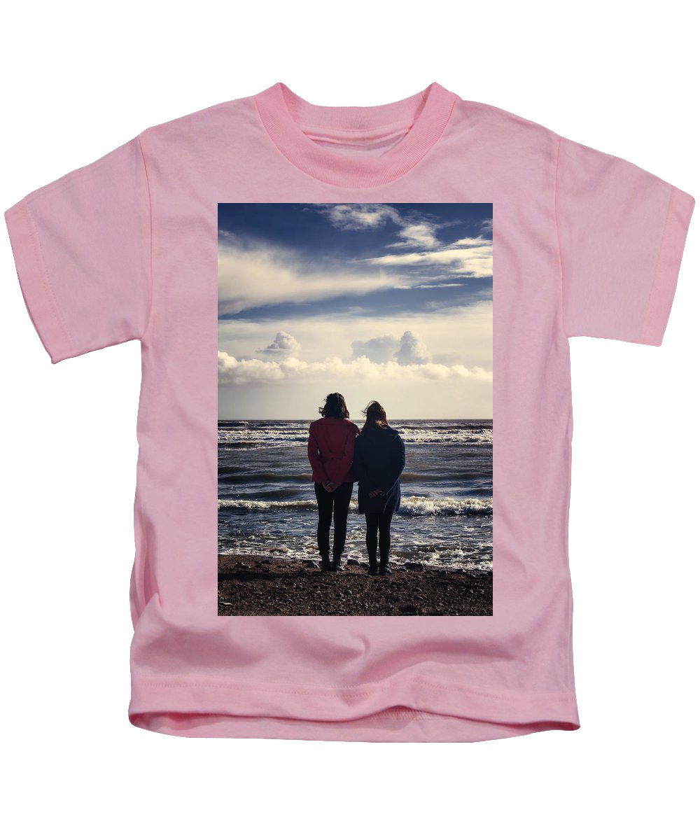 Woman Kids T-Shirt featuring the photograph Friendship by Joana Kruse