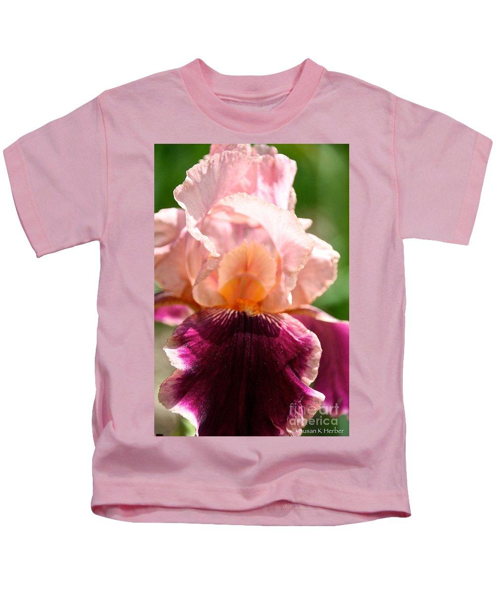 Flower Kids T-Shirt featuring the photograph Pink Sunshine by Susan Herber