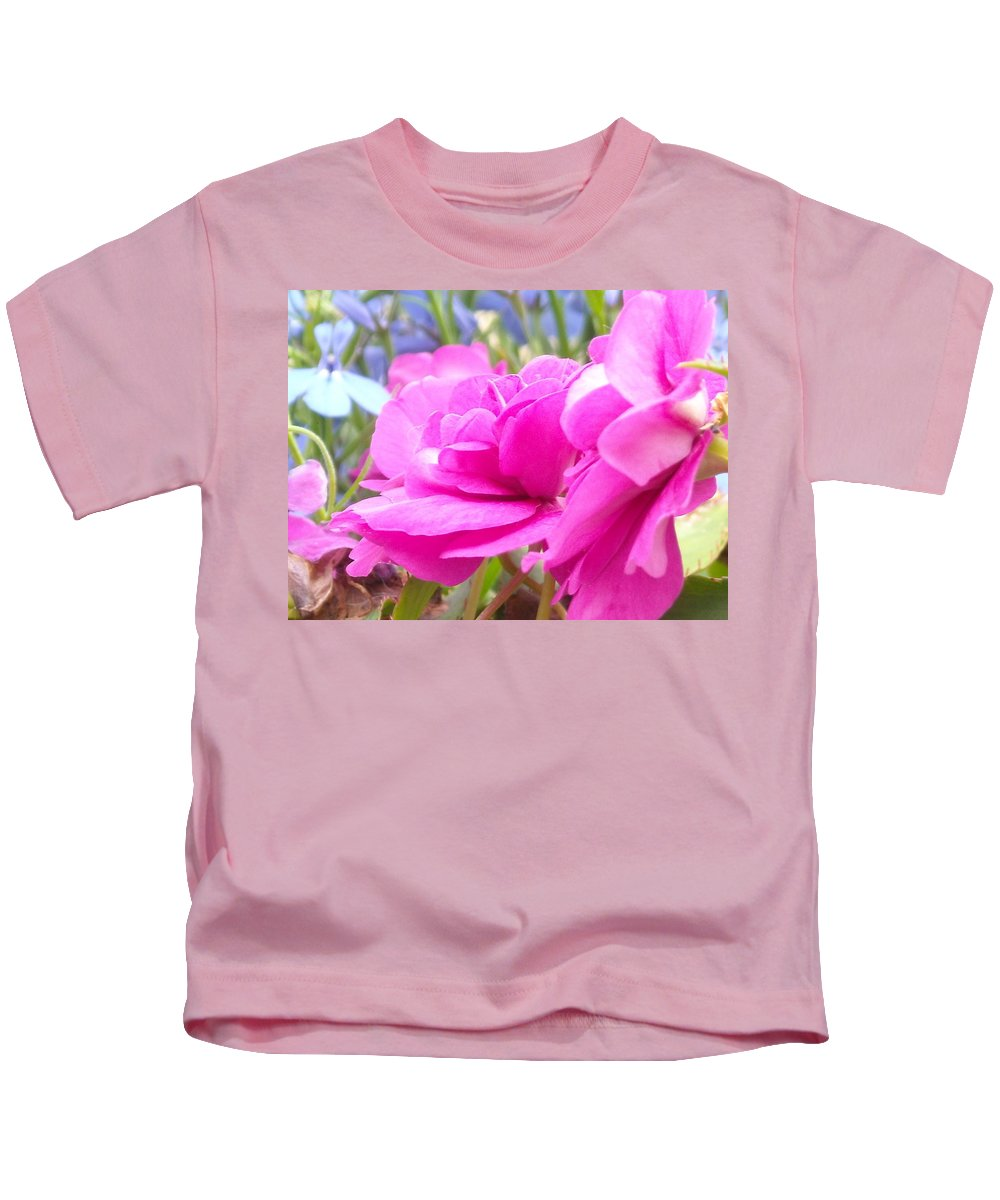 Flower Kids T-Shirt featuring the photograph Pretty Pink Flower by Line Gagne
