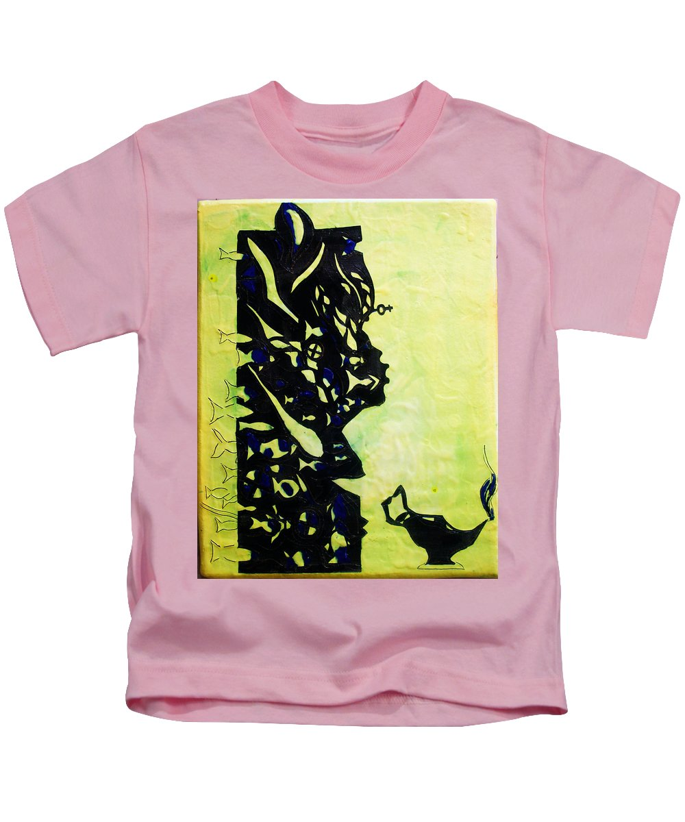Jesus Kids T-Shirt featuring the painting The Wise Virgin by Gloria Ssali