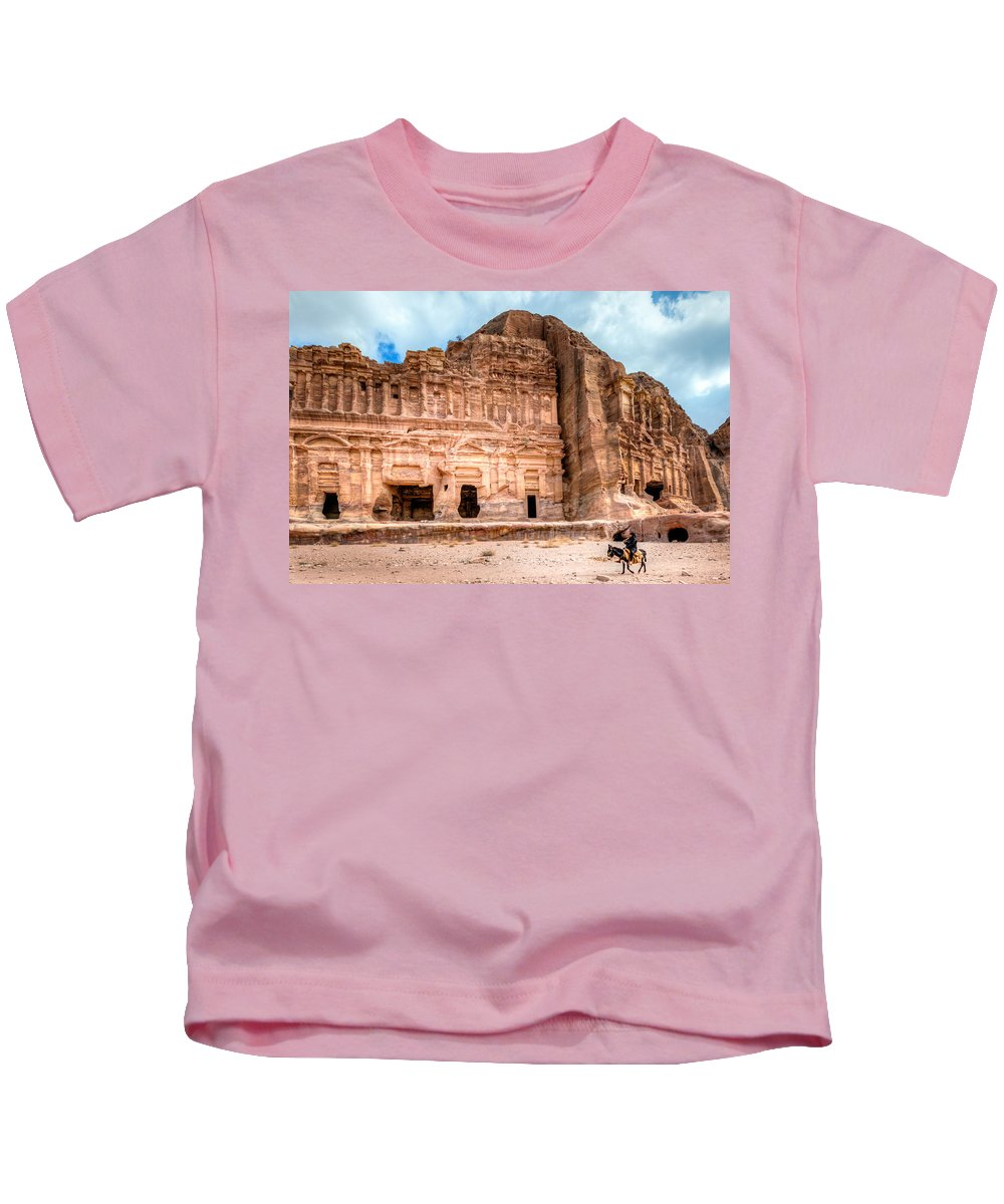 Petra Kids T-Shirt featuring the photograph Petra by Alexey Stiop