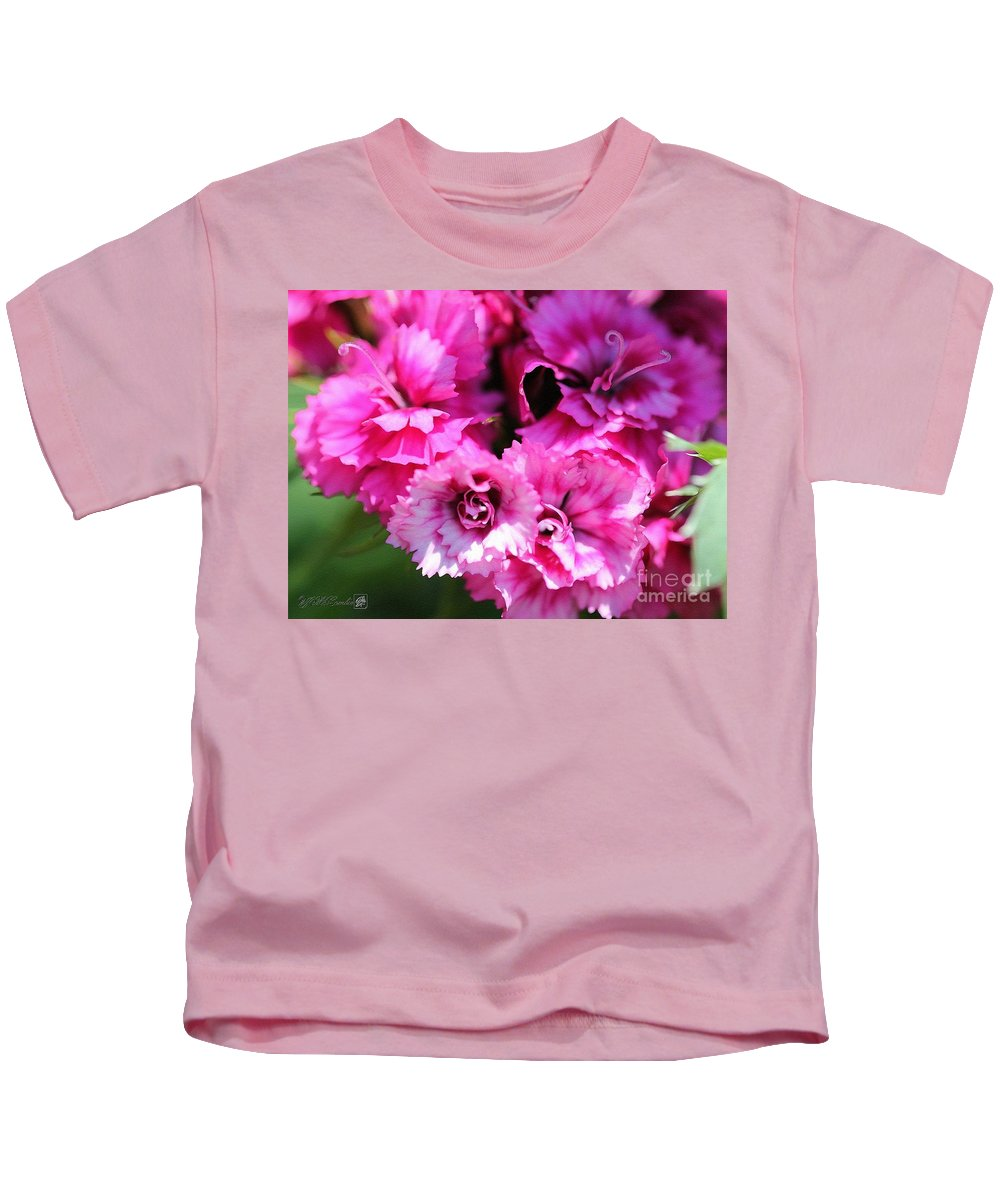 Mccombie Kids T-Shirt featuring the painting Sweet William From The Super Duplex Bluepoint Mix by J McCombie
