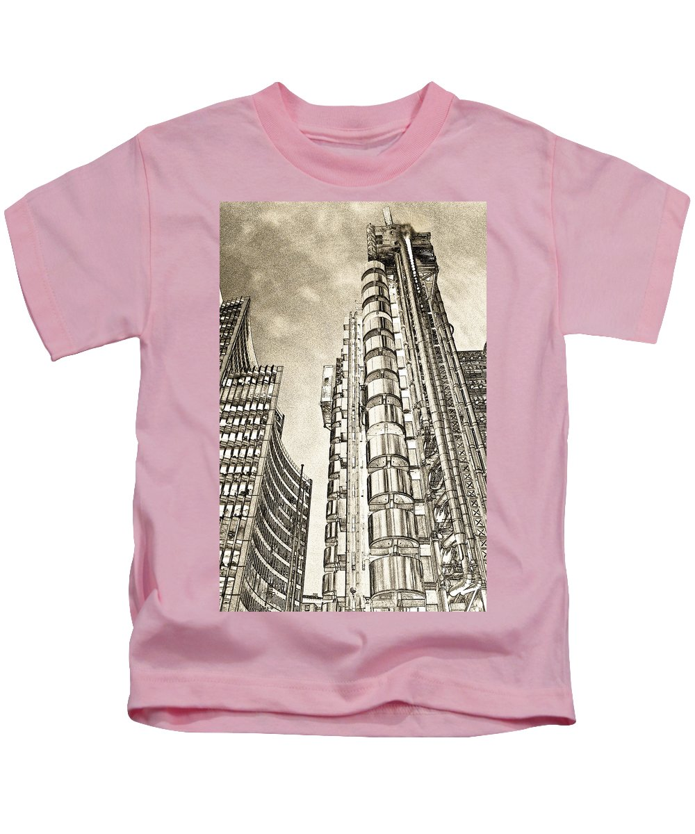 Willis Kids T-Shirt featuring the digital art Willis Group And Lloyd's Of London Art by David Pyatt