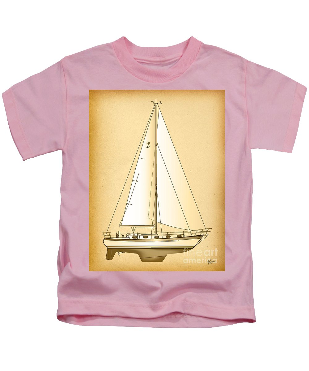 Regina Gallant Kids T-Shirt featuring the drawing 42 Shades by Regina Marie Gallant