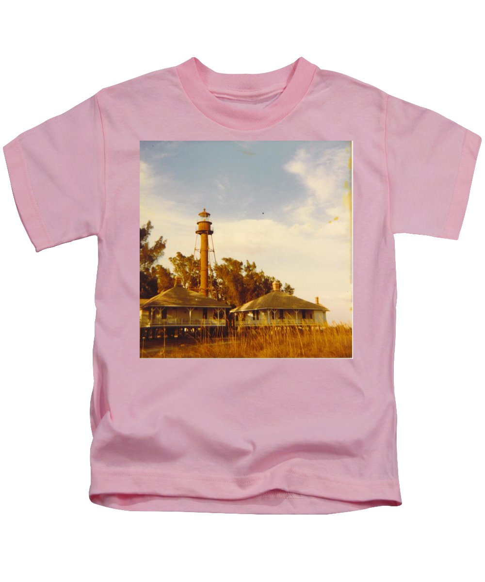 Sanibel Is. Kids T-Shirt featuring the photograph Lighthouse Landscape by Robert Floyd