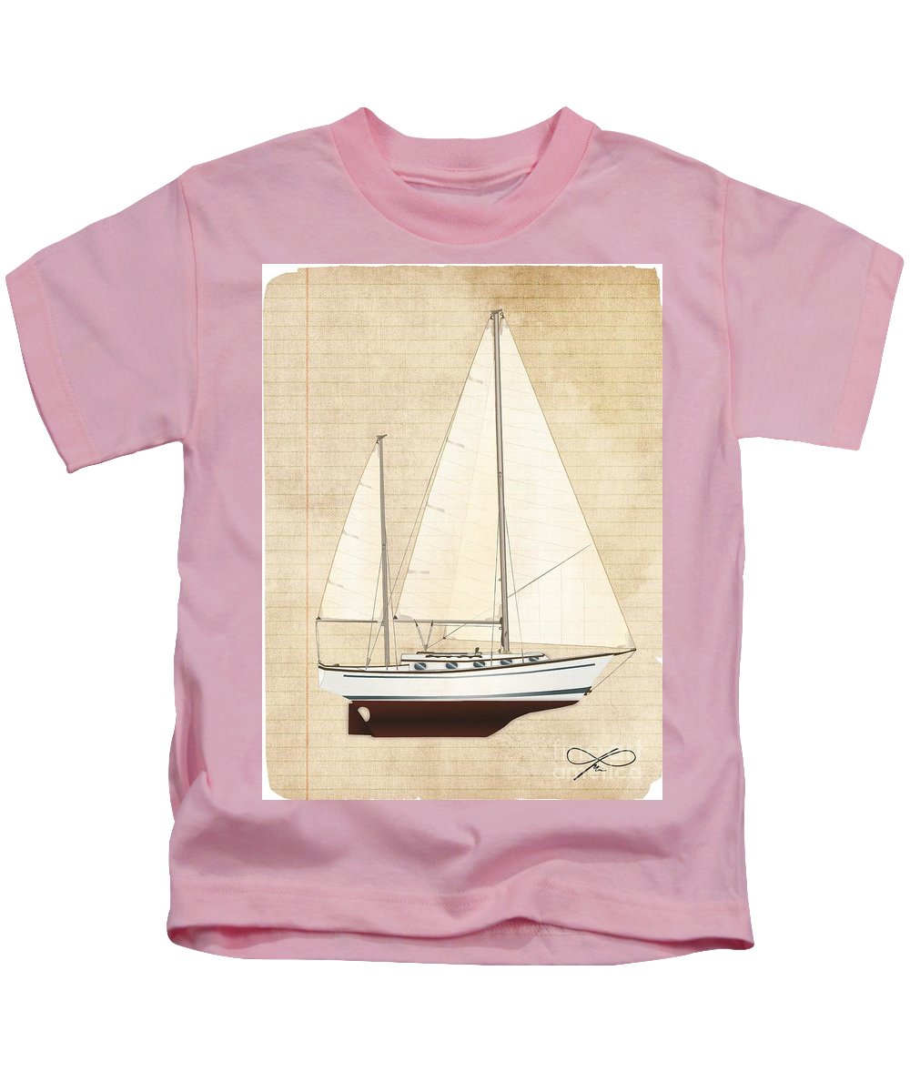Regina Gallant Kids T-Shirt featuring the drawing A Princess Sketch by Regina Marie Gallant