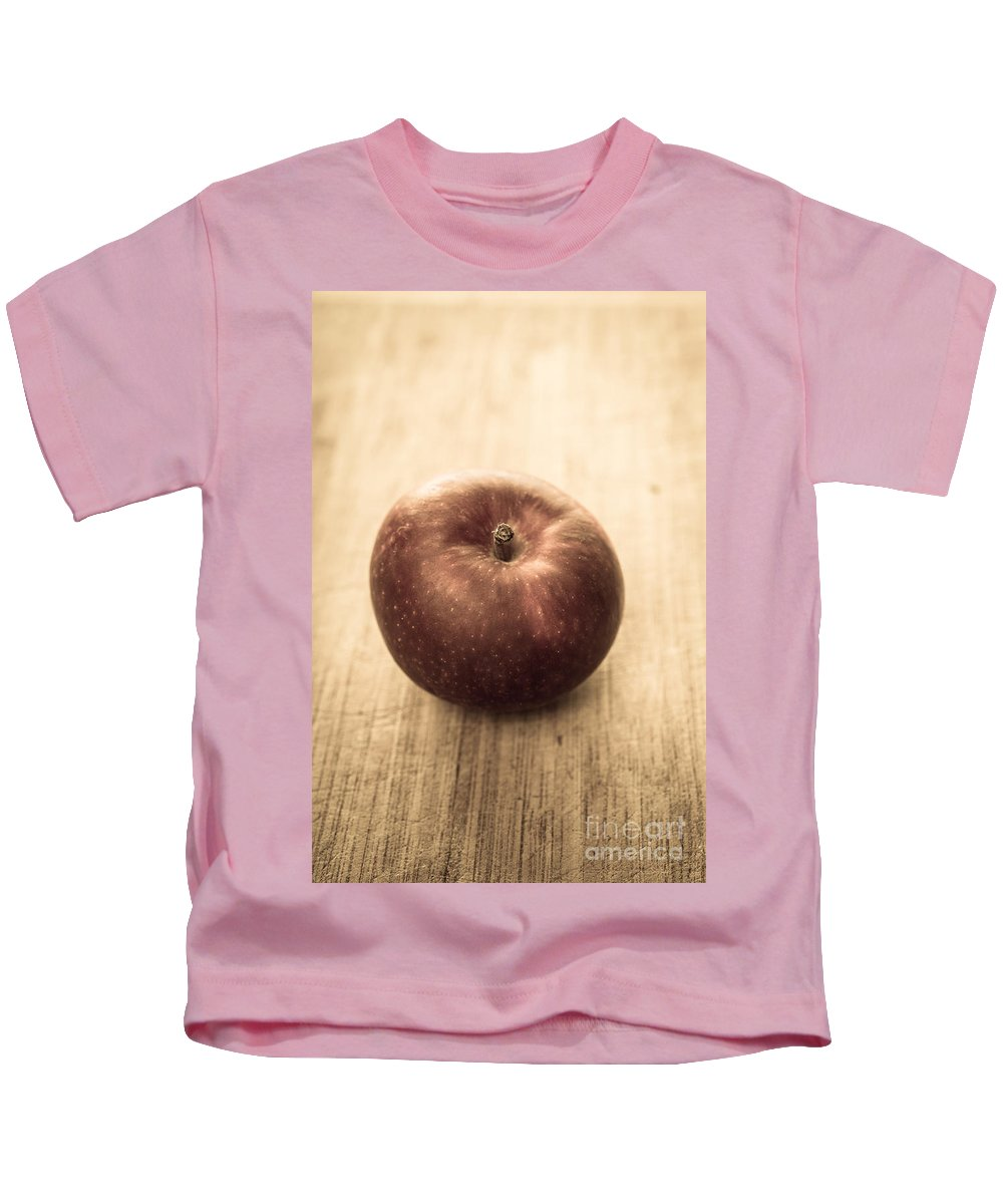 Aged Kids T-Shirt featuring the photograph Aged Apple by Edward Fielding