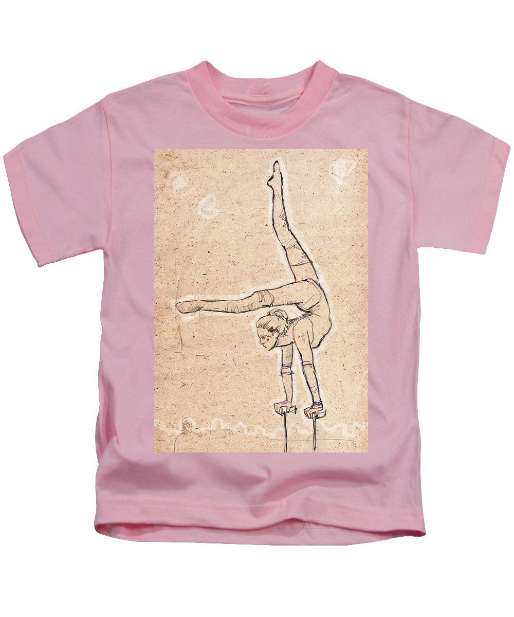 Circus Kids T-Shirt featuring the drawing Aimee by H James Hoff