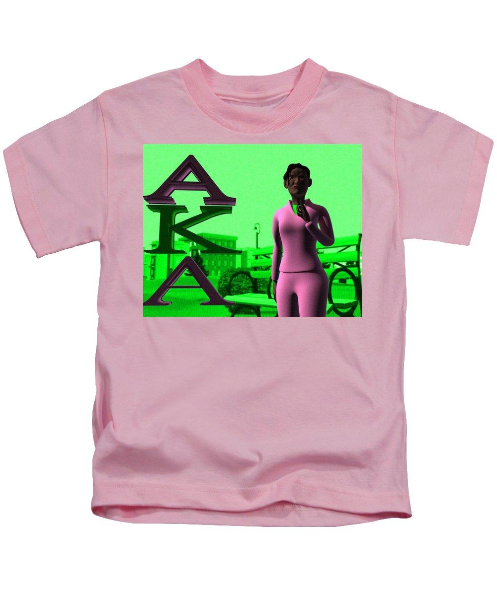 Alpha Kappa Alpha Kids T-Shirt featuring the digital art Alpha Sister by James Bowman