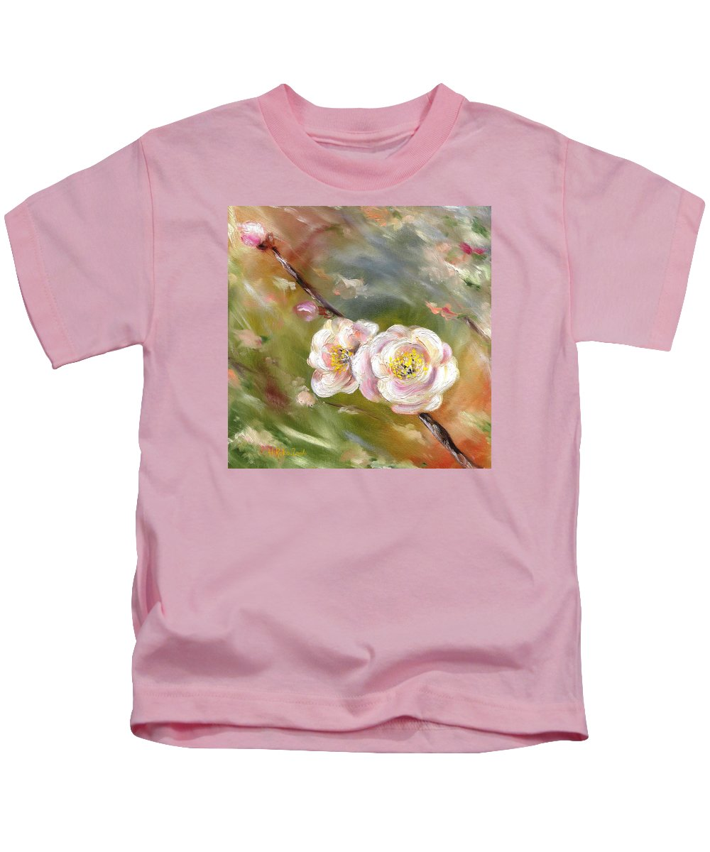 Flower Kids T-Shirt featuring the painting Anniversary by Hiroko Sakai