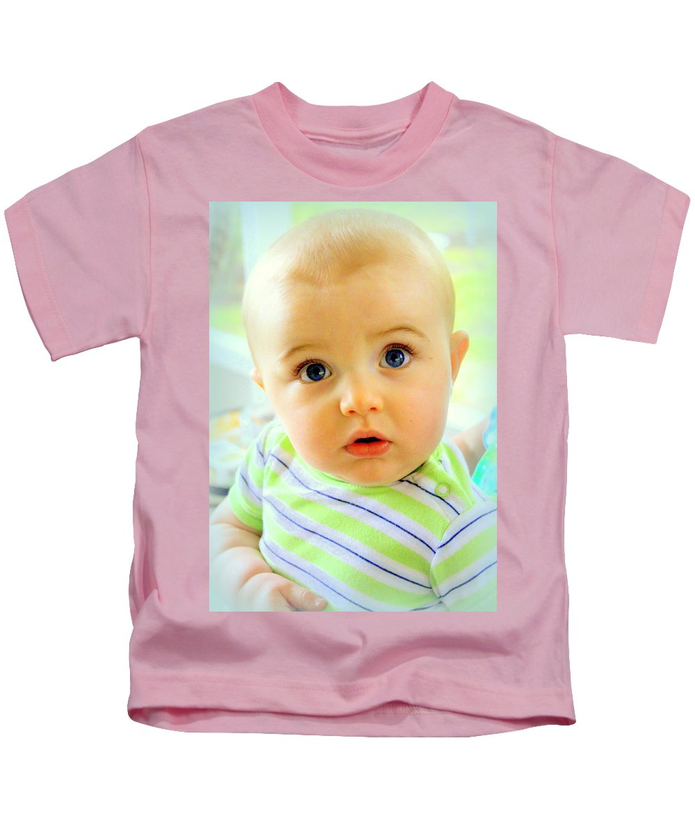 Baby Kids T-Shirt featuring the photograph Are You Talking To Me by Faith Williams