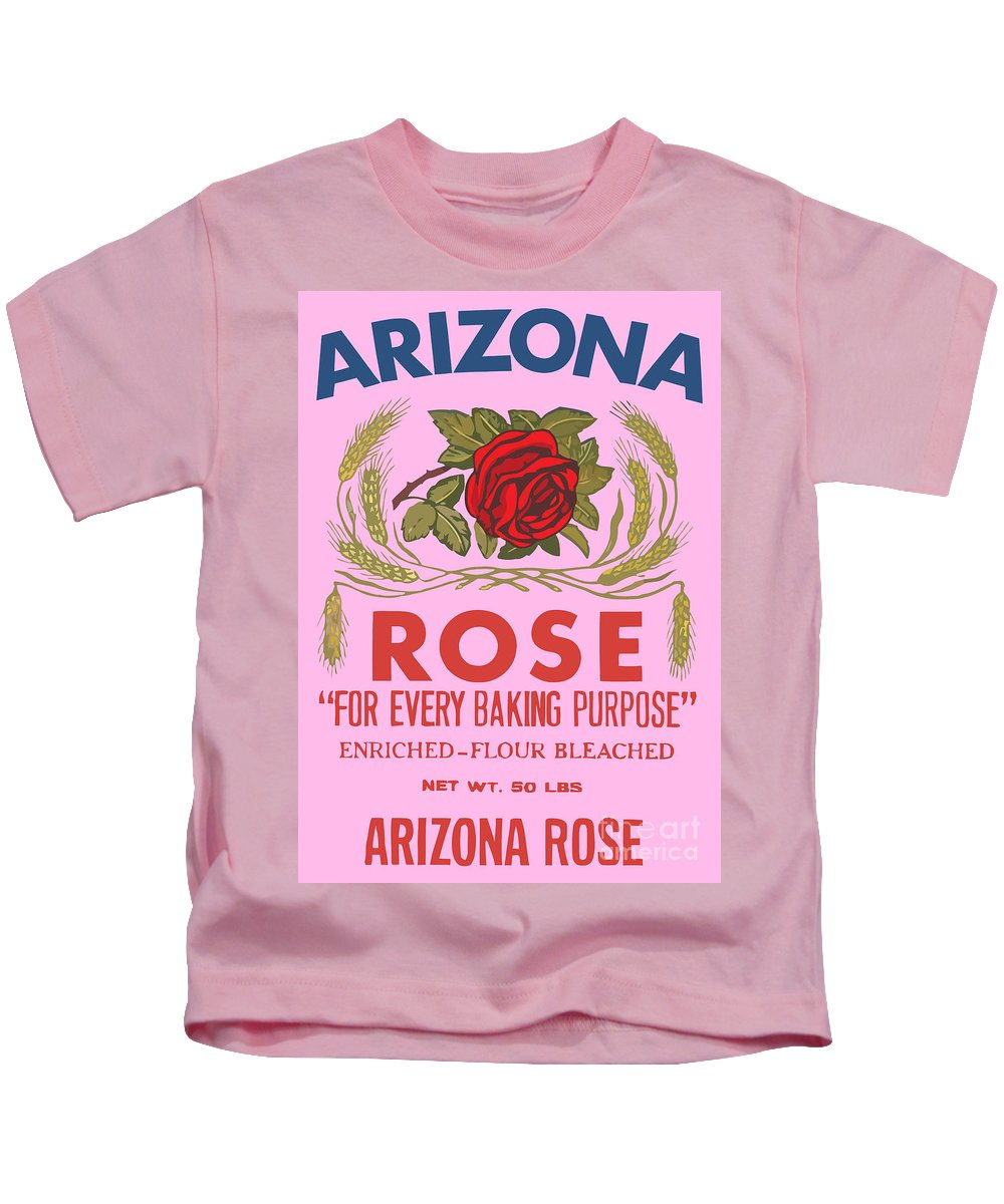 Vintage Kids T-Shirt featuring the digital art Arizona Rose by Studio Poco Los Angeles