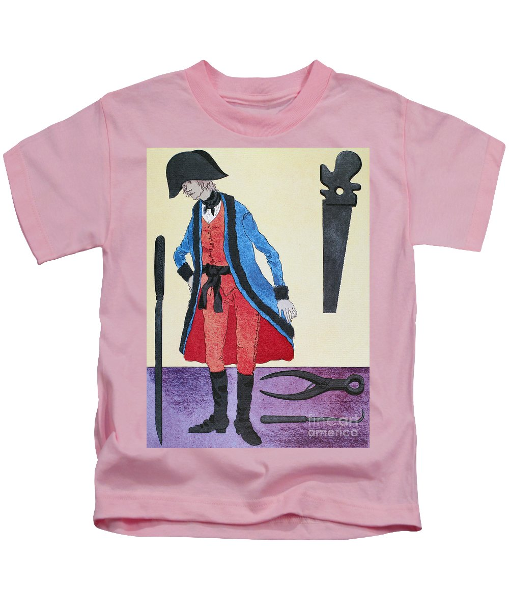 19th Century Kids T-Shirt featuring the photograph Army Surgeon, C1800 by Granger