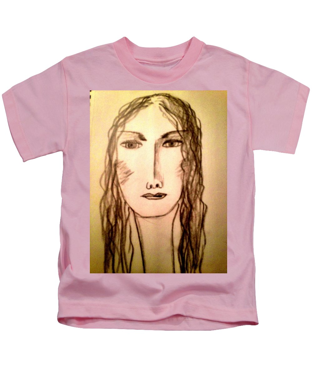Self Portrait Kids T-Shirt featuring the photograph Art Therapy 194 by Michele Monk
