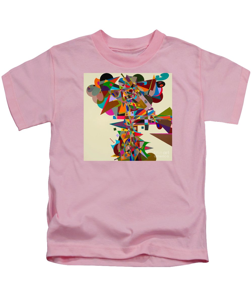 Landscape Kids T-Shirt featuring the painting Atherton by Allan P Friedlander