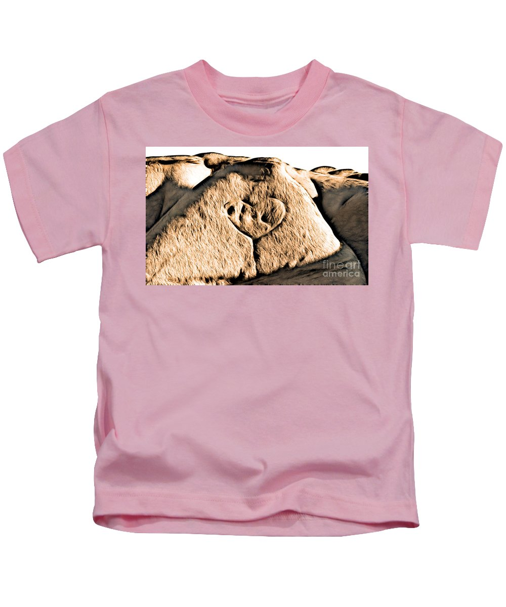 Badlands Kids T-Shirt featuring the photograph Badlands Love by Matthew Naiden
