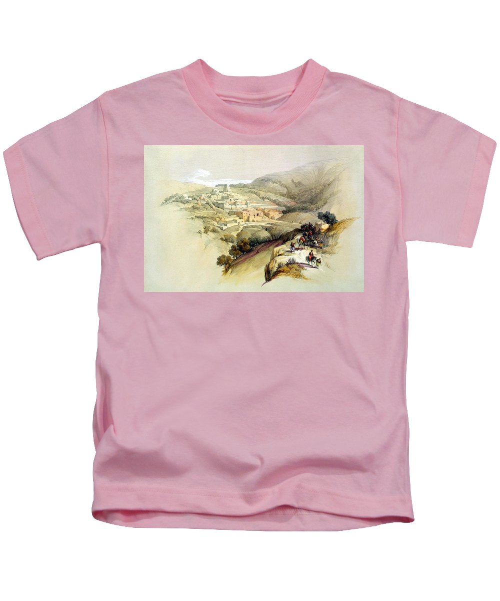 Bethany Kids T-Shirt featuring the photograph Bethany by Munir Alawi