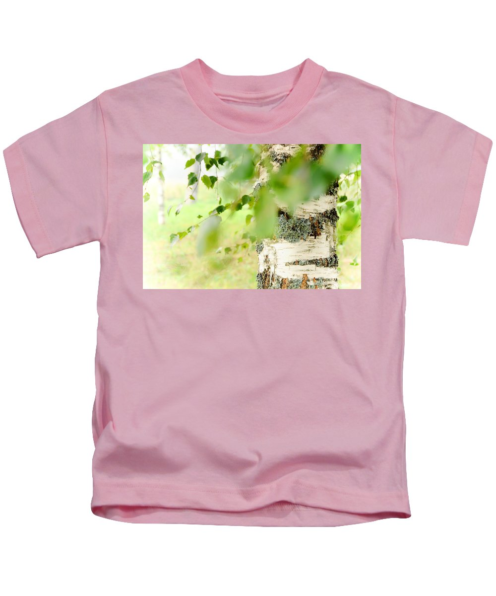 Birch Kids T-Shirt featuring the photograph Birch Tree. The Soul Of Russian Nature by Jenny Rainbow