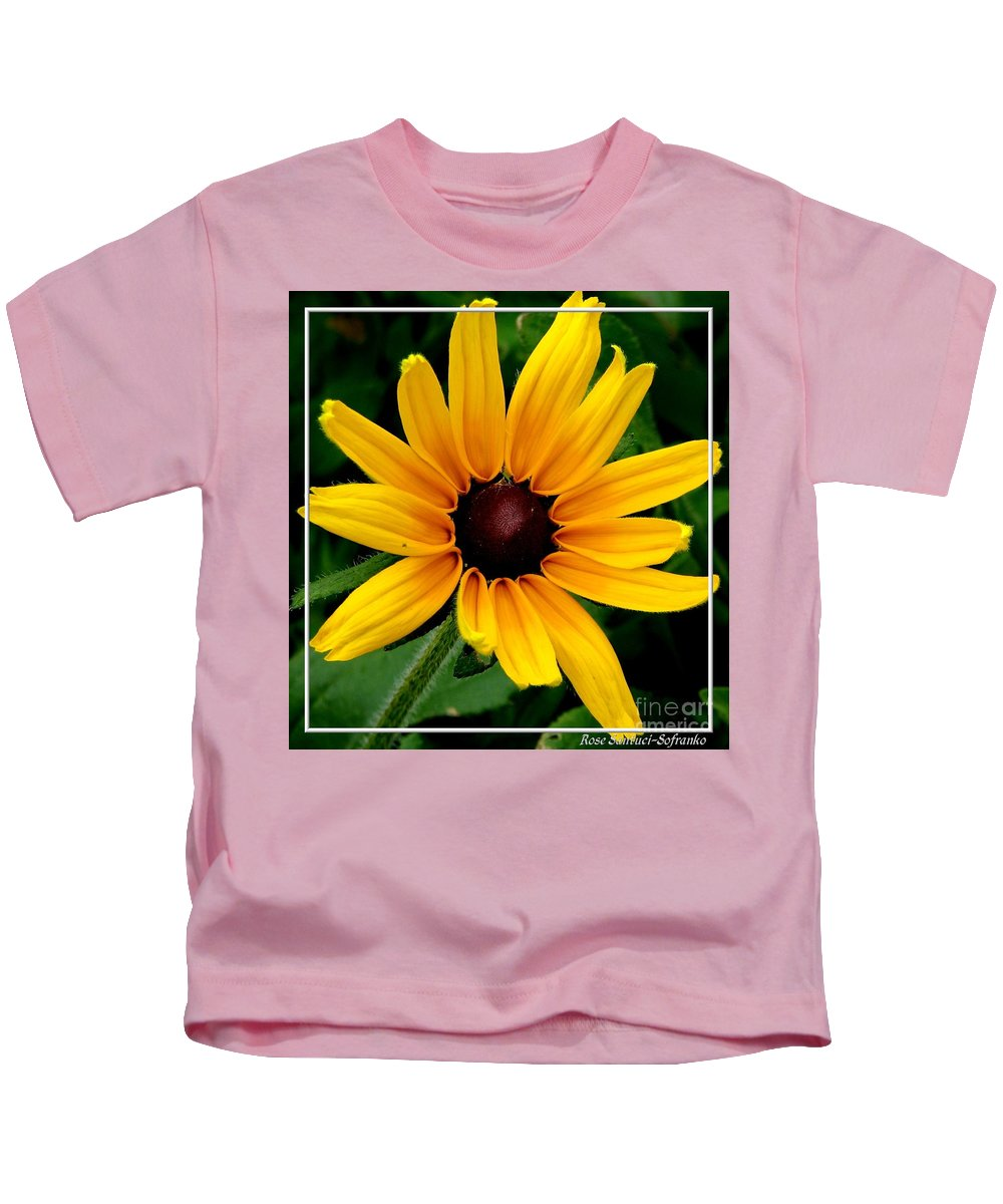 Black-eyed Susan Kids T-Shirt featuring the photograph Blackeyed Susan by Rose Santuci-Sofranko