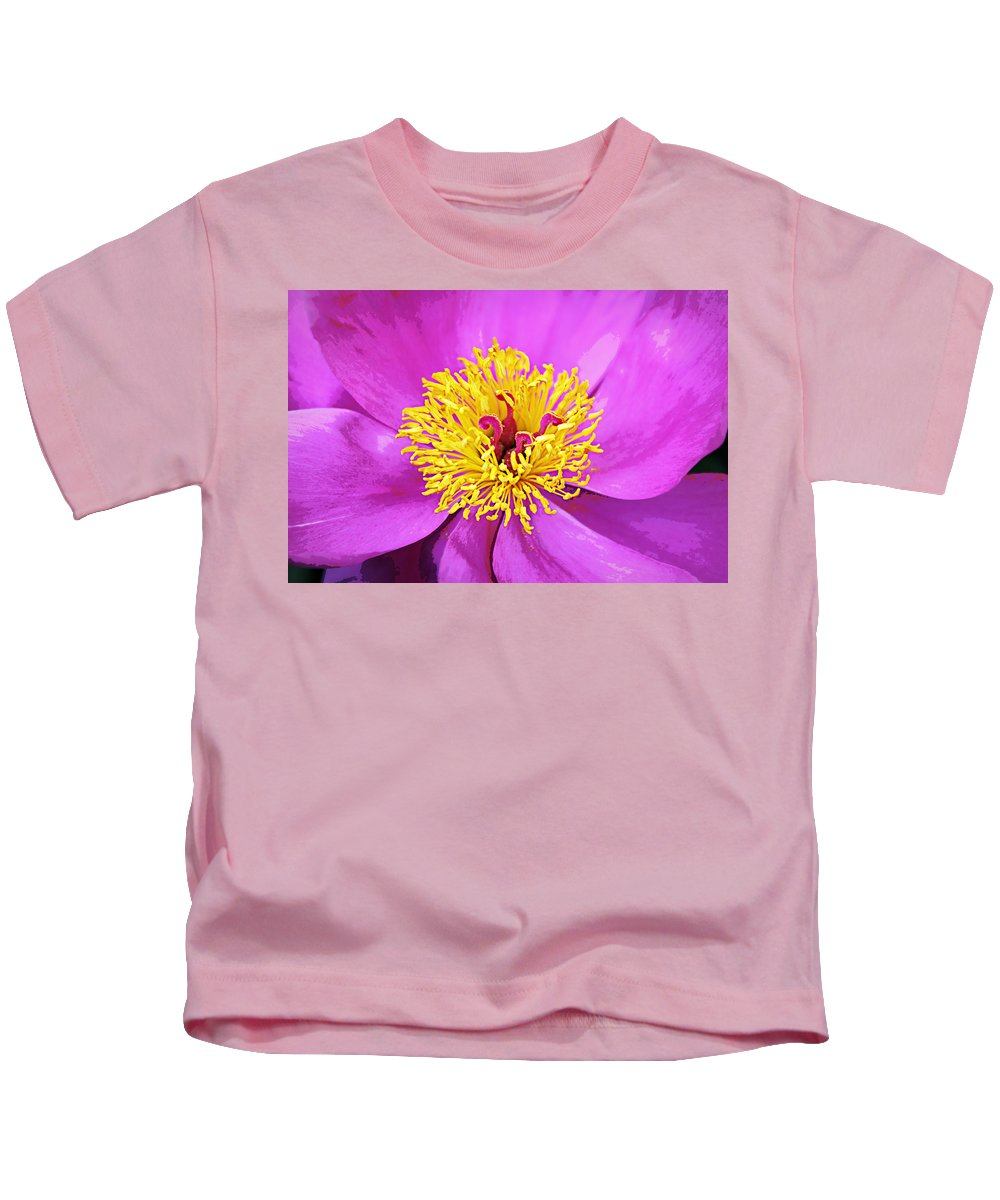 Bloom Kids T-Shirt featuring the digital art Blooming by Tina Meador