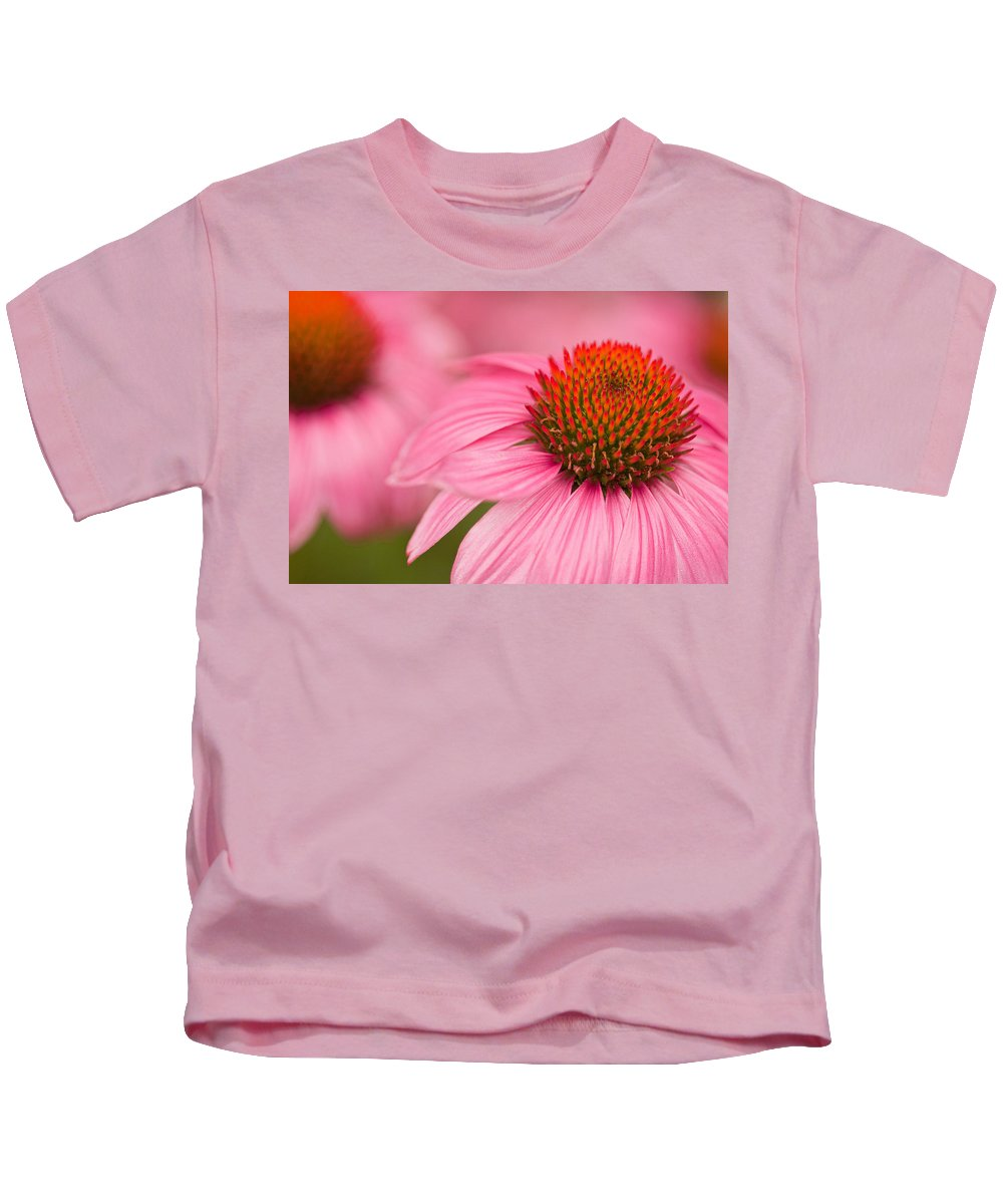 Coneflowers Kids T-Shirt featuring the photograph Boldly Summer by Lindley Johnson