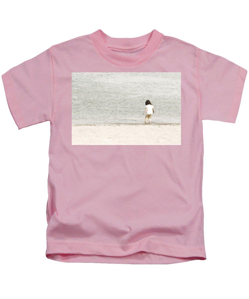 Beach Kids T-Shirt featuring the photograph Breezy by Anita Braconnier