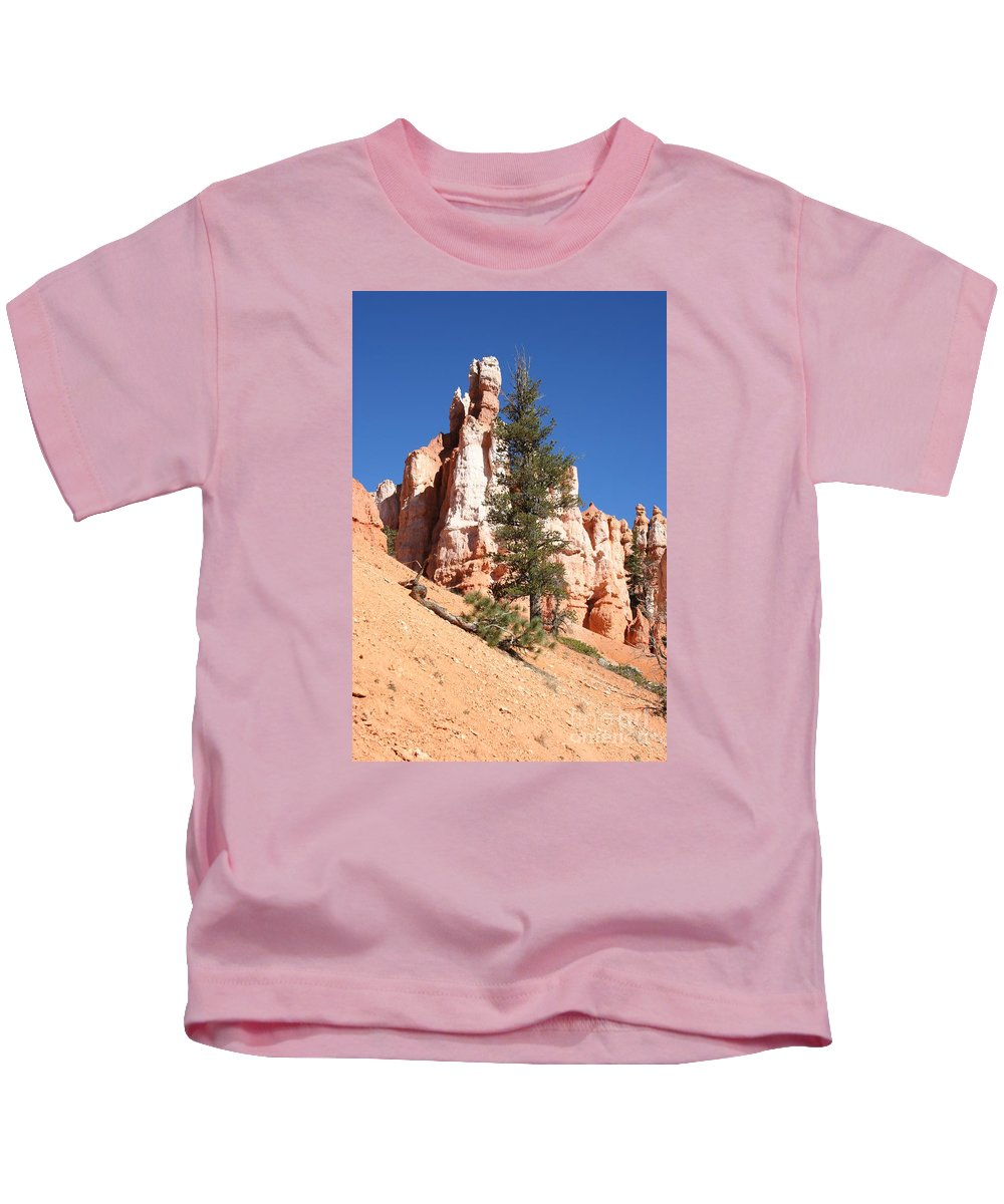 Canyon Kids T-Shirt featuring the photograph Bryce Canyon Red Fins by Christiane Schulze Art And Photography