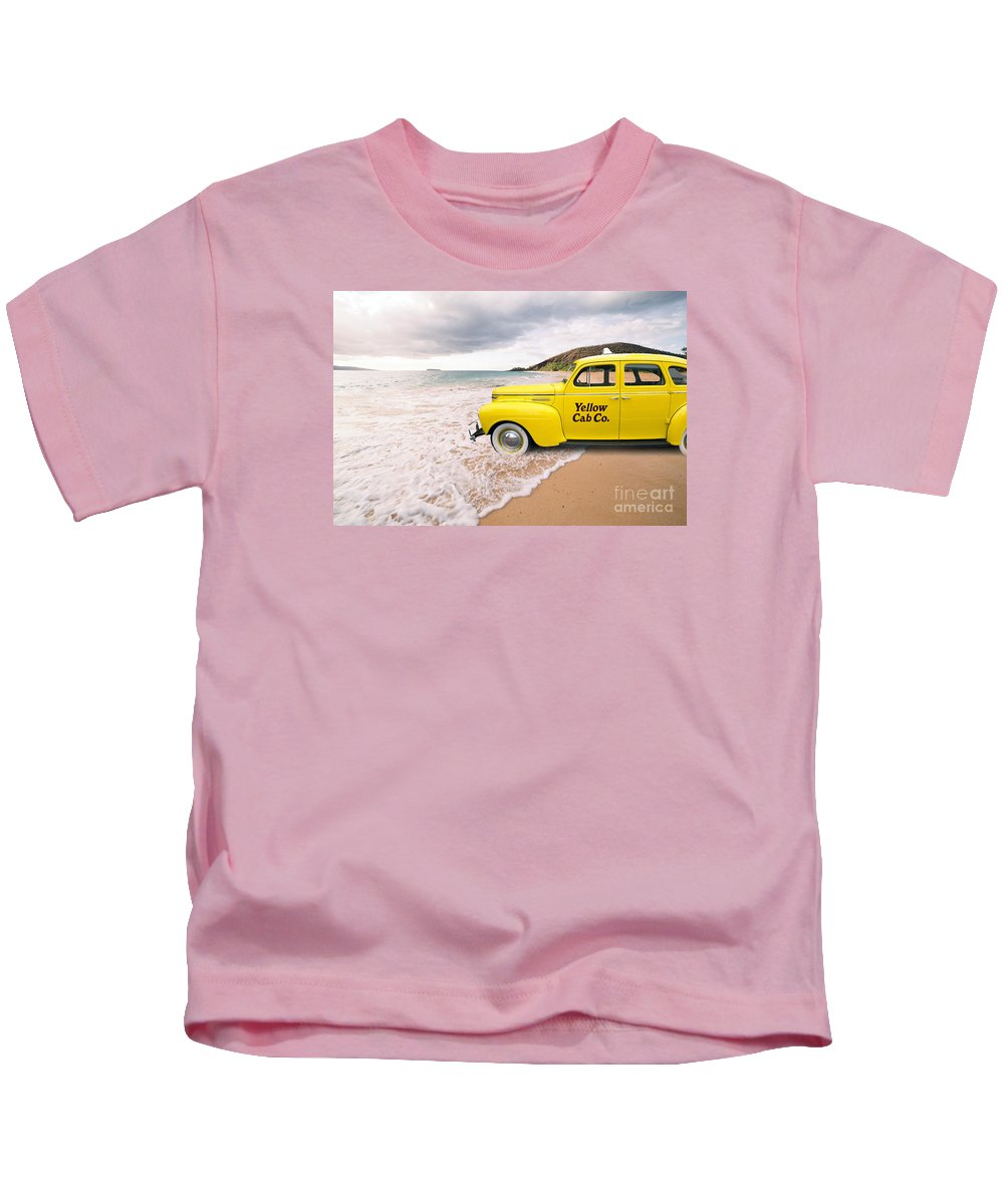 Hawaii Kids T-Shirt featuring the photograph Cab Fare To Maui by Edward Fielding